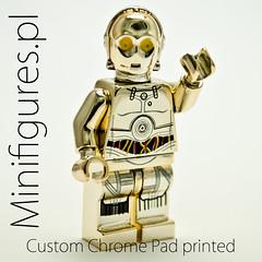 C3PO (Minifigures.pl) Tags: blue green gold star starwars lego mr pad machine decal wars custom printed c3po chromed tc14 mrgold minifigurespl