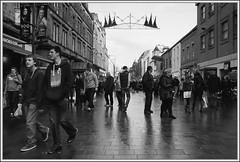 Humans (ShinyPhotoScotland) Tags: street winter people urban blackandwhite art festive scotland movement emotion unitedkingdom perthshire places celebration perth toned gbr