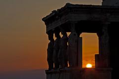 Acropolis reigns (Matthew on the road) Tags: old sunset sky sun up stone greek ancient stones antique horizon athens greece acropolis caryatids athina caryatid reign 2014 reigns matthewnan