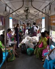 Inside a Circle Line Train, Yangon, Myanmar (maxunterwegs) Tags: train tren yangon burma zug myanmar trem birma rangoon birmanie birmania rangún rangoun rangum yangoncircletrain yangoncircularrailway yangonregion yangoncircleline yangoncirculartrain