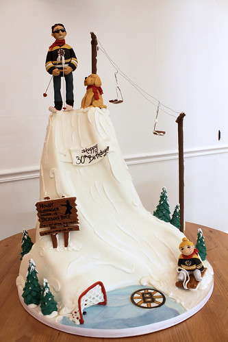 Ski Lift and Ice Skating Cake