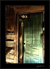 Behind the Green Door (the Gallopping Geezer 2.3 million + views....) Tags: county house building abandoned home rural canon woods decay michigan farm structure foliage faded worn derelict decayed geezer 2010 corel macomb dwelling wardsfarm