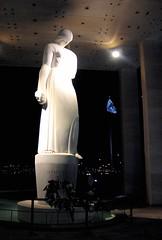 "VA War Memorial - ""Memory"" statue (d1pinklady) Tags: moon reflection building statue liberty virginia memorial war shrine downtown great richmond flame torch capitol va memory spaceship flintstones kazoo eternal"