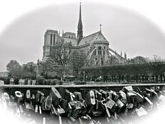 Love and Paris (Anna Sikorskiy) Tags: city bridge winter urban bw paris france love canon europe day cityscape postcard streetphotography landmark historic locks