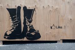 Like (motveggen) Tags: streetart stencil like bergen gatekunst streetartbergen