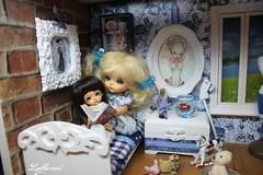 The blue room (Loofthewood) Tags: white beauty yellow miniature doll candle tiny belle beast bjd holder dollhouse minipot haru latidoll