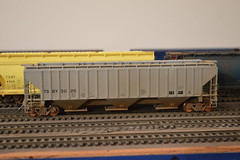 One of the original TSBY hoppers I did up with an IMRC model- (RustBeltRailroad) Tags: railroad scale bay tsb michigan covered ho hopper saginaw tuscola tsby