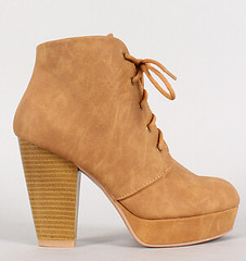 "lace up stacked heel platform camel • <a style=""font-size:0.8em;"" href=""http://www.flickr.com/photos/64360322@N06/16165682637/"" target=""_blank"">View on Flickr</a>"