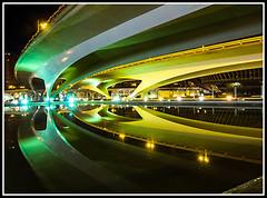 Reflejos en verde 1 (edomingo) Tags: edomingo olympusepl5 mzuiko1250 cac ciudadartesyciencias valencia nocturnas reflejos epl5 uro