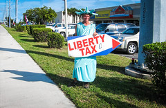 A Job I might not Want (Denzil D) Tags: advertising exercise florida statueofliberty floridakeys bikeing taxservice wifescamera wonderfuljob canonpowershots95