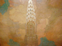 Chrysler Building, 1930, lobby ceiling (DeBeer) Tags: nyc newyorkcity 1920s newyork art architecture skyscraper painting manhattan elevator icon ceiling lobby midtown artdeco chryslerbuilding 20thcentury 1930 20thcenturyart 20thcenturyarchitecture edwardtrumbull williamvanallen 20thcenturypainting