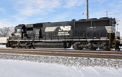 NS#6606 EMD SD60 ROSTER HORSEHEAD SWANTON,OHIO 1-10-15 SATURDAY (penn central 74) Tags: ns horsehead norfolksouthern roster ns6606 emdsd60 swantonohio 011015