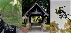 Kings' Norton, evening Triptych (alanhitchcock49) Tags: green church st digital photography gate collages group mosaics august norton kings nicolas 19 triptychs 2014 lych webheath