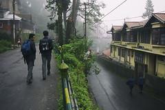 M O N S O O N ~ Darjeeling (Sandipa Malakar (bristii)) Tags: morning people india students asia monsoon greenery canon1740l canon60d schoolgoers darjeelingmall nortbengal darjeelingmountainhilltown monssonmood sandipamalakar