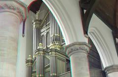 Orgel Oude-Kerk Delft 3D (wim hoppenbrouwers) Tags: church 3d anaglyph delft stereo organ orgel oudekerk redcyan