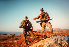 Patrolling Highway 68 (Normann Photography) Tags: lebanon unitednations 1992 peacecorps peacekeepers highway68 unifil unitednationsinterimforceinlebanon pv68 fntjeneste unservice kontigent29 higway68