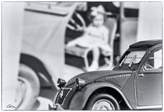 """When I was a Child..."" (giloudim) Tags: macro vintage miniature photo citron pro enfant flou noirblanc 2chevaux macromondays canon7dmarkii"