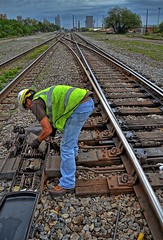 Railroad switch maintenance (BDM17) Tags: railroad fix switch track rail repair signal adjustment adjust turnout 5h maintainer