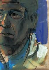 PUZZLE DE RETRATO (2) (GARGABLE) Tags: portrait sketch retrato puzzle papel acrilico cartulinas pigmentos uskspain gargable angelbeltrn