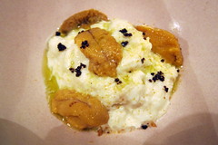 Empellón Cocina Kitchen Table - Natas with Sea Urchin and Black Pepper (wallyg) Tags: nyc newyorkcity eastvillage ny newyork restaurant manhattan cream foodporn seaurchin kitchentable natas clottedcream empellón empellon empelloncocina empellóncocina empellóncocinakitchentable empelloncocinakitchentable nataswithseaurchinandblackpepper