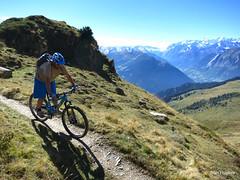Autumn Riding around Verbier  (84) (Carl and Sian) Tags: orange alps switzerland mtb mountainbiking verbier singletrack orangefive bikeverbier alpinesingletrack carlandsian