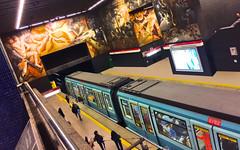 ALSTOM NS93 (ECOgarf!) Tags: metro santiago universidaddechile chile art paint mural alstom alsthom ns93 subway