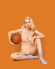 Shelbie (J Trav) Tags: portrait seamless americanapparel model basketball colorful losangeles california blonde