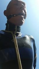 Outdoor 06-2016 (bondagefanberlin) Tags: bondage bdsm latex gag halsband knebel
