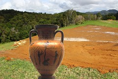Grecian Urn in landscape (Gillian Everett) Tags: urn landscape earth grecian 52 2016 week25
