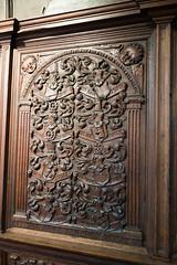 Relief carving of coats of arms (quinet) Tags: sculpture church germany kirche carving relief glise stnicholaschurch schleswigholstein nikolaikirche 1636 2014 eckernfoerde schnitterei hansgudewerdt