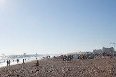 Huntington Beach, Independence Day 2 (jbp274) Tags: ocean people seagulls beach water pier tents sand huntingtonbeach