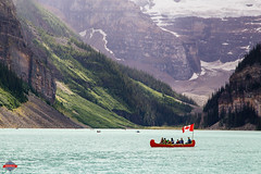 Lake Louise, Alberta (Rob Moses) Tags: improvementdistrictno9 alberta canada lakelouise landscape beautiful beauty amazing majestic nature natural mountain rockymountains lake wonderful canoe boat canadianflag flag people travel glacier snow summer trees canon6d 24105mm explore exploremore travelling wow