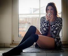 Janine (heinltier) Tags: nikon d7000 portrait romantic tea coffee woman beautiful sexy
