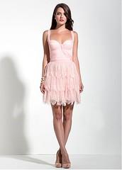 Chic Lace & Chiffon Spaghetti Straps Neckline A-Line Homecoming Dress (miyadresses2016) Tags: lacedress chiffondress straplessdress homecomingdress pinkdress eveningdresses elegantdress prettydress