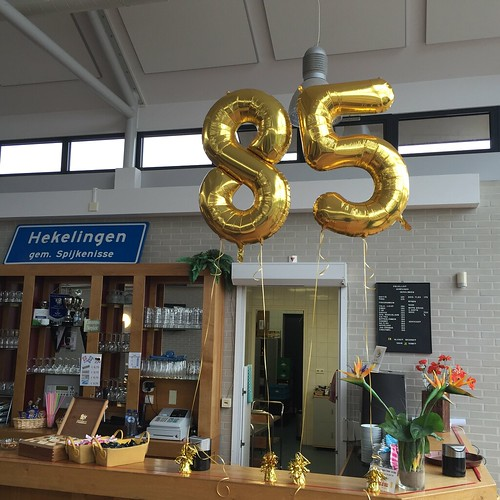 Folieballon Cijfers 85 Dorpshuis Hekelingen