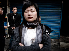 on qipu road (-{ ThusOriginal }-) Tags: 2009 china city color digital grd3 grdiii people ricoh shanghai street thusihaveseen winter woman