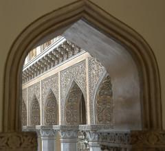 Window Framed (VinayakH) Tags: india gardens royal palace hyderabad royalpalace nizam telangana chowmahallapalace