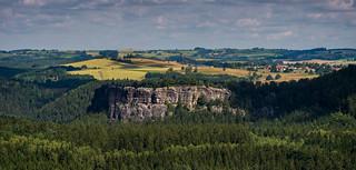 Kuhstall vom Winterstein aus (hinteres Raubschloss)