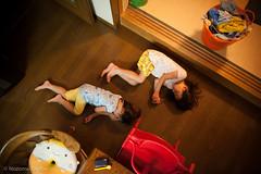 sisters (Nozomu Okabe) Tags: chiharu sumire girl kid child daughter family home sleep night