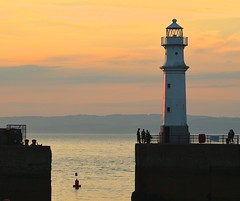 The Lighthouse (Edinburgh Photography) Tags: newhaven harbour sea lighthouse landscape outdoors nikon d7000