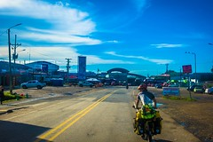 Approaching the hectic border crossing between Costa Rica and Panama.