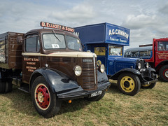 Bedfords at Welland (Ben Matthews1992) Tags: welland steam rally 2016 classic commercial lorry truck wagon waggon transport haulage vehicle bedford ost otype tipper 1947 1933 had179 wlg van ayt640 elliott cannon removal