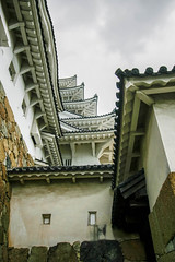 shapes and lines (Jean I Cresol) Tags: july 21st 2016 hdr himeji castle hyogo japan asia shapes geometric summer outside exterior walls