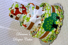 woodland animals  baby diaper cake rusty (Dianna's Diaper Cakes) Tags: baby diaper cakes shower centerpieces gifts boys girls neutral diannas decoration