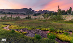 Summer Broken Top Sunset (awdftw!) Tags: broken top summer sunset colors warmth clouds sun mountains peaks jaren morris photography landscapes cascades three sisters wilderness travel hiking backpacking wide angle stream creek water pastel wild flowers