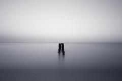 Beach Long Exposure (AndyNeal) Tags: longexposure beach sea water movement minimalist black white shore groyne