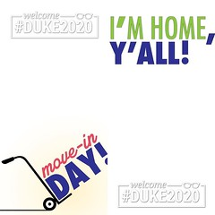 Here is a sneak peak at the Snapchat filters we have ready for #Duke2020 during Orientation Week.  (Duke University) Tags: ifttt instagram duke university