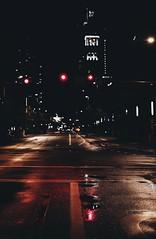 Intersections (Blockshadows) Tags: nightowl nightphotography wander exploring moody lights lines 6d canon 50mmf12 50mm streets streetlight light colorado denver downtown city urban grime reflections rain night street