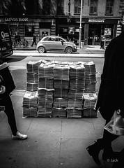 newspapers (Jack_from_Paris) Tags: r0001859bw ricoh gr apsc capture nx2 lr monochrom noiretblanc street london uk journaux tas journal news newspapers rue