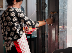 #16 in Dollar (watcher330) Tags: dollar waitress plates door